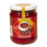 """Juha """"Boršč"""" s kiselim kupusom gotova juha, konzervirano povrće"""