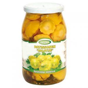 Tikvice Patišon marinirani konzervirano povrće