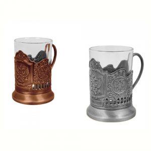 Držač za čašu sa grbom, suvenir / dar iz Rusije