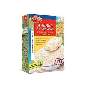 Pahuljice 4 vrste žitarice s pšeničnim mekinjama