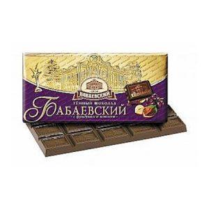 Čokolada Babaevskij sa lješnjacima i grožđicama tamna
