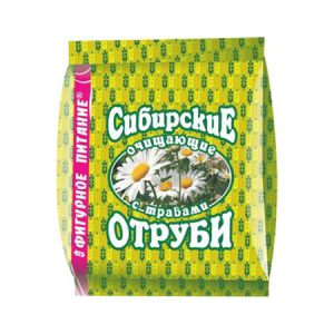 Отруби пшеничные Сибирские очищающие с травами 200г