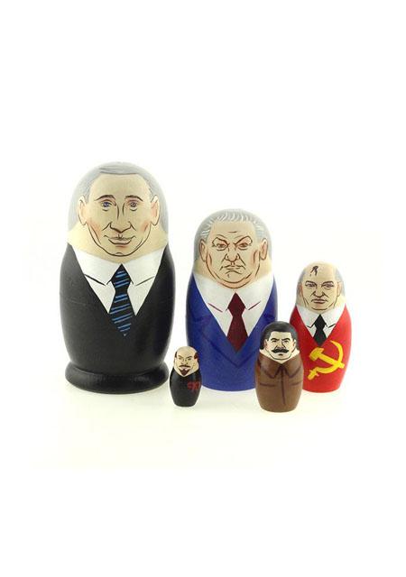 """Babuška """"Putin"""" 5 u 1 drvo 10,5cm"""