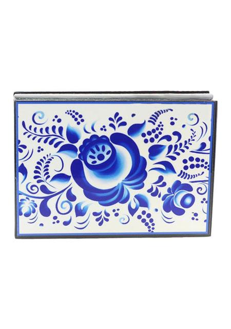 Kutija za nakit Gželj 10x14cm drvo - suvenir