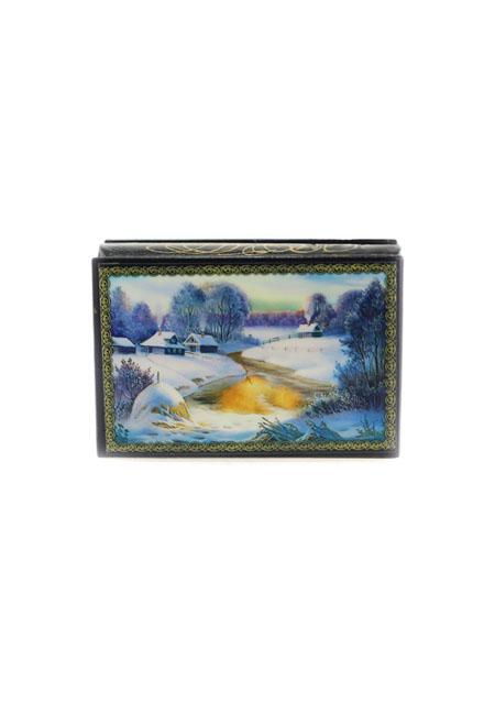 Kutija za nakit Zima 9x6cm drvo