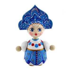 Lutka Vasilisa plava drvena