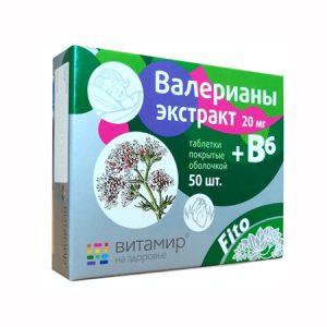 Valerijana biljka u tabletama