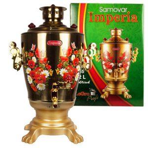 Samovar ruski električni Zlatni