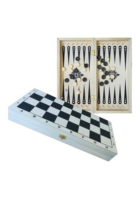 """Backgammon + Dame"" 2-u-1 igra 40x20x3cm"