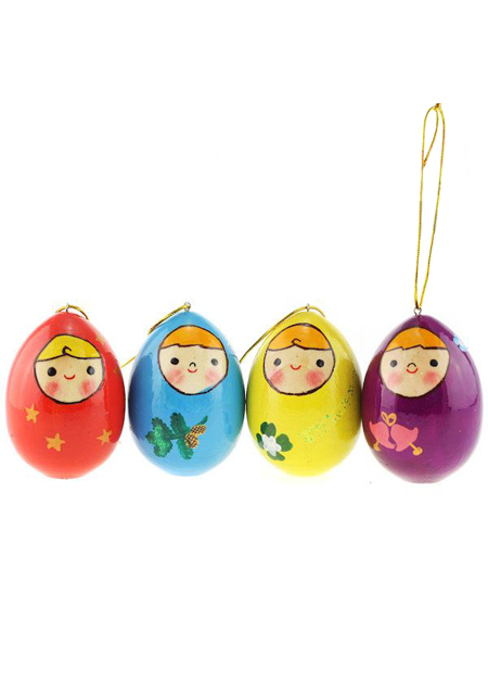 Jaje obojano drveno