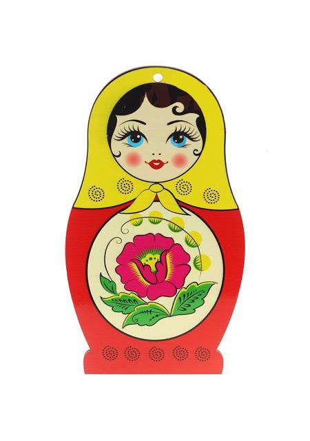 """Daska """"Babuška"""" crveno-žuta ukrasna"""