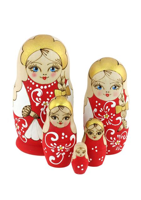 "Babuška 5 u 1 ""Zhzhenka"" crvena"