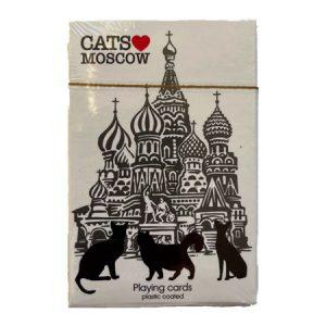 """Karte za igranje / špil karate """"Cats Moscow"""""""