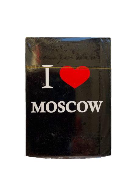 "Karte za igranje / špil karate ""I love Moscow"""