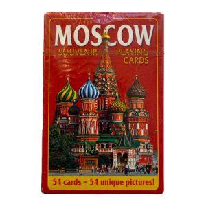 "Karte za igranje / špil karate ""Moskva"" crvene"