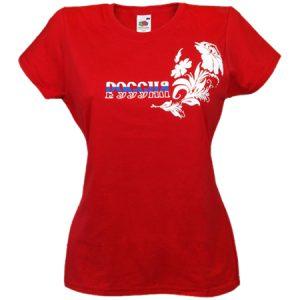 "Majica ""Rusija"" crvena ženska"